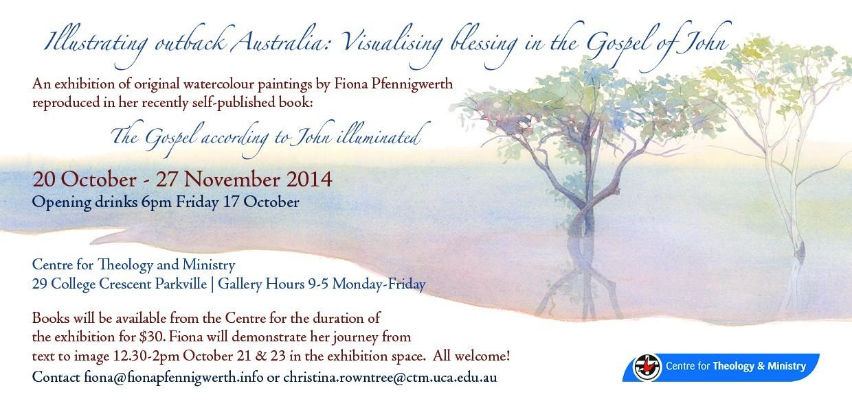 Illustrating outback Australia Melbourne Invite